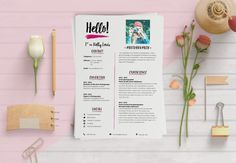 Welcome to my shop where you will find custom templates made with care and love to add a touch of personality in your Resume and get the attention Resume Template Free, Creative Resume Templates, Free Cover Letter, Self Promo, Curriculum, Place Card Holders, Etsy Shop, Microsoft Word, Lettering