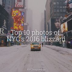 Must see photos of NYC's epic blizzard of 2016!