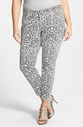 a0761c698a8 CJ by Cookie Johnson  Wisdom  Leopard Print Ankle Skinny Jeans (Plus Size)