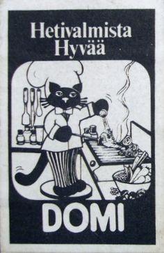 Vintage matchbox label from Finland