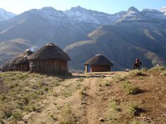 Pictures of Africa: Lesotho Village