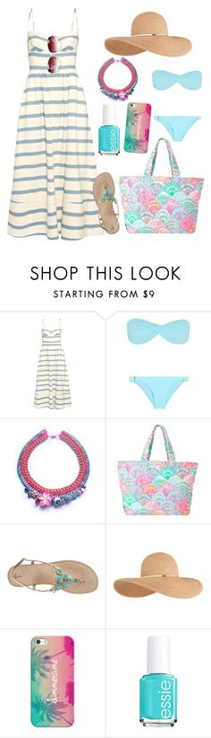 """""""Dreaming of the summer"""" by yinggao ❤ liked on Polyvore featuring Mara Hoffman, Melissa Odabash, Lilly Pulitzer, Eugenia Kim, Casetify, Essie, Oliver Peoples, women's clothing, women's fashion and women"""
