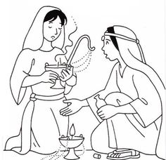 Parable of the 10 virgins coloring pages: