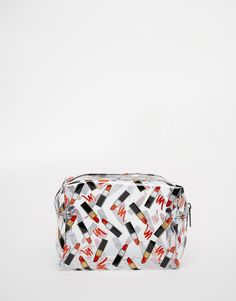 Image 1 ofASOS Lipstick Clear Make Up Bag