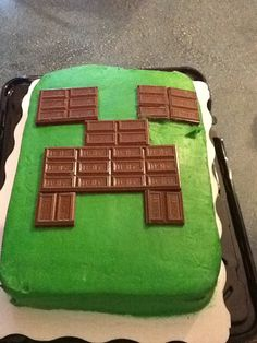 Creeper cake from mindcraft really easy to make