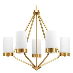 Progress Lighting Mid-Century Modern Chandelier Bronze Elevate by Progress Lighting P400022-109