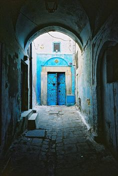 Tunisia blue door
