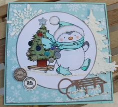 Kari Anne's hobby Marianne Design, Aktiv, Magnolia, Christmas Cards, Snoopy, Fictional Characters, La La Land, Pictures, Christmas E Cards