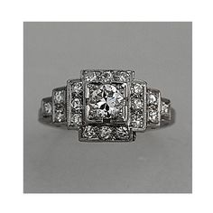 Oh hai 1920s Art Deco Platinum Old European Cut by ArtDecoDiamonds, $3999.00. #wedding #ring #engagement