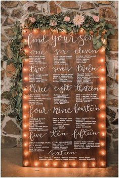 40 Creative and Eye-catching Wedding Seating Chart - Wedding Table Seating Chart, Wedding Table Seating, Wedding Table Signs, Wedding Seating Charts, Rustic Seating Charts, Mirror Seating Chart, Rustic Table Numbers, Wedding Seating Arrangements, Long Wedding Tables