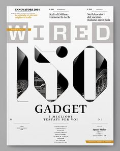 Wired (Italien) - Cover on Behance - # Typography Images, Creative Typography, Typographic Design, Typography Letters, Lettering, Editorial Layout, Editorial Design, Proust Questionnaire, Magazin Design