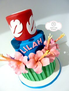 Wonderful Picture of Lilo And Stitch Birthday Cake, Hawaiian Birthday, Luau Birthday, Disney Birthday, First Birthday Parties, First Birthdays, Birthday Cake, Birthday Ideas, Lilo And Stitch Cake, Lilo Et Stitch