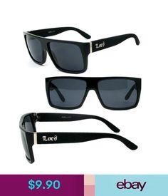 556ce52bc9e Sunglasses   Fashion Eyewear Discounted Locs Mens Cholo Biker Sunglasses  W Free Pouch - Matte Black
