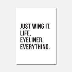 MINI ART  Just Wing It  Typography Wall Art by Hatchesandmatches