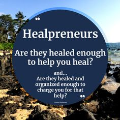 Are they healed enough to help you heal? Are they educated beyond their own personal experiences? Are they healed and organized enough to charge you for that help? Are they able to provide services rooted in authority, authenticity and integrity? Just because they came through an experience, doesn't mean they have the experience or ability to help someone else. #healpreneurs #help #assist #heal #healing #helping Someone Elses, Integrity, Authenticity, Healing, Author, Organization, Messages, Quotes, Getting Organized