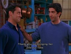 Thank you for bringing her.. ~ Friends Quotes ~ Season 6, Episode 7: The One Where Phoebe Runs #amusementphile Friends Season 6, Group Of Friends, Friends Tv Show, David Crane, Best Shows Ever, Our Life, Tv Shows, Bring It On, Feelings