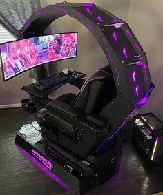 Gamer Setup, Best Gaming Setup, Gaming Room Setup, Gaming Chair, Ultimate Gaming Setup, Cool Gaming Setups, Computer Gaming Room, Computer Room Decor, Computer Laptop