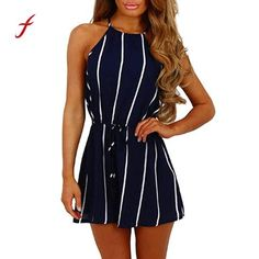 392a63241e jumpsuits for women 2018 bodysuit women Stripe Printing Off Shoulder  Sleeveless rompers women jumpsuit casual sexy