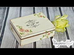 Decoupage krok po kroku - pudełko na herbatę - YouTube