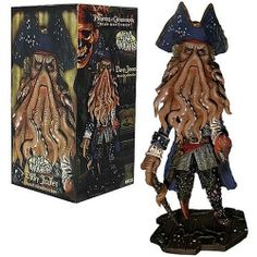"Pirates of the Caribbean Davy Jones Extreme Head Knocker by Neca. $18.99. Recommended age range from 8 months and above. The popular pirates of the Caribbean-dead man's chest. Stands 9.5"" tall. Highly detailed. From the Manufacturer                Pirates of the Caribbean Davy Jones Extreme Head Knocker.                                    Product Description                You don't owe Davy Jones your soul but you owe it to yourself to have him bobbling in your col..."