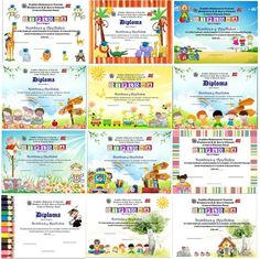 100 Plantillas Para Diplomas Infantiles Y Preescolares BsF 10000 En: