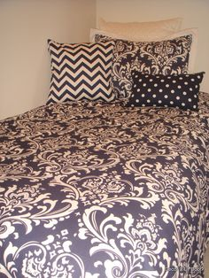navy #dorm bedding