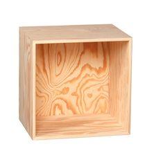 KUBIK Træ kvart reolkasse - 1 rum