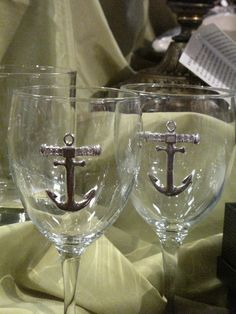 Pewter Anchor Glasses -- what a great gift!