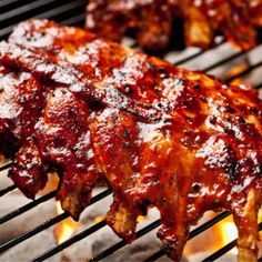 Fall-off-the-bone Apple Cider Ribs - BBQ slathered, fall-off-the-bone tender ribs that you'll be wishing there were more to eat!