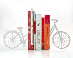 Bookends - My white bike - laser cut for precision these metal bookends will hold your favorite books. €39.00, via Etsy.