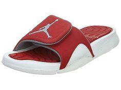 a65dbeb43 Nike Jordan Hydro 4 Mens 705163-116 Red White Sandals Slides Slippers Size  12 Men s