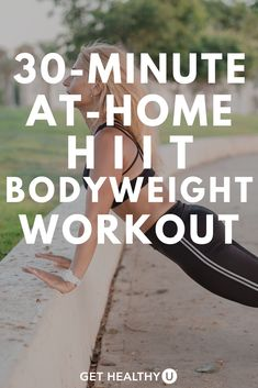 Get a full body workout with this at home Bodyweight HIIT Workout with NO EQUIPMENT! This 30 minute at home bodyweight workout is your typical Tabata HIIT s. Easy Workouts, At Home Workouts, Muscle Building Workouts, 30 Minute Workout, Full Body, Total Body, 10 Seconds, High Intensity Interval Training, Workout Videos