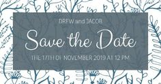 Floral, blue and white, save the date notices. Create your own unique design. Save the date templates from DesignWizard Save The Date Templates, Special Day, Create Your Own, Wedding Invitations, Dating, Blue And White, Unique, Floral, Quotes