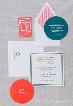 Austrian themed birthday party invitations.  Planned and Designed by Pineapple Productions.  Paper by Cheree Berry Paper.  Photo by Kate Headley.