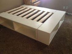DIY Storage Bed by Happy Huntsman (using Ana White's plans)