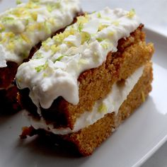 Lemon & Lime Polenta Cake