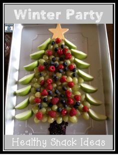 Healthy winter or holiday party snacks for classroom or kids, Teaching Momster