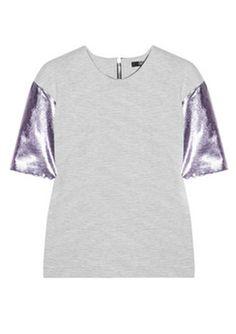 Markus Lupfer Metallic-Sleeved Top