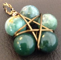 Moss Agate Pentacle by MysticEarthMagick on Etsy, $15.00