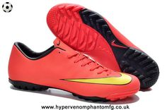 newest 3faef 6e817 Nike Mercurial Victory (Red Yellow Black) X TF Boots Black Football Boots