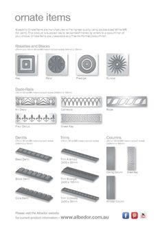 Dado Rail, Sundial, Brochures, Rosettes, Mini