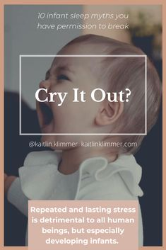 What you can try instead of CIO: Staying with a baby until they fall asleep provides a less stressful experience for them... Moro Reflex, Stages Of Sleep, Cry It Out, Feeling Lost, Cortisol, Caregiver, Our Baby, Baby Sleep, How To Fall Asleep