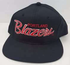70f6986e873 Deadstock Portland Blazers Sports Specialties Script NBA Basketball  Snapback Hat  SportsSpecialties  PortlandTrailBlazers