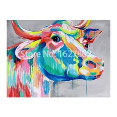 Cheap painting christmas pictures, Buy Quality painting skateboard directly from China painting picture frame Suppliers:             Hand Pained Modern Classic Cartoon Animal Canvas Oil Painting Abstract Cow Wall Art Pictures for