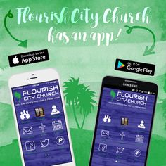 Download it now from your App Store or Google Play. #eflourish #fccconnect #videomessages #givetolive #generosity #eventregistration #flourishservesignup #podcasts #mobilegiving #blog #onlinebible www.flourishcitychurch.com