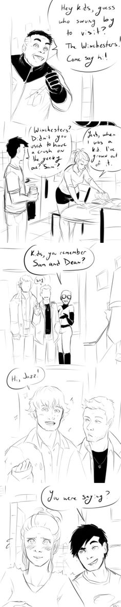What a weird crossover- Danny Phantom x Supernatural. All Grown Up by PhandomMom