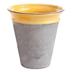 Vaso de cimento + cor