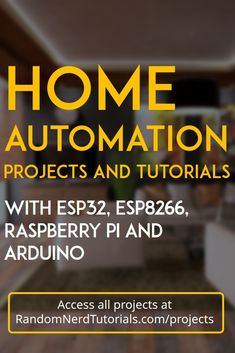 Home Automation Projects and Tutorials with Raspberry Pi and Arduino. Arduino Home Automation, Home Automation Project, Home Automation System, Smart Home Automation, Open Source Home Automation, Iot Projects, Electronics Projects, Home Security Camera Systems, Security Cameras For Home