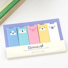 Kawaii Qnimal Index Postit Sticky Note Set