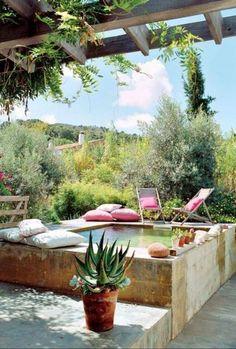 Piscine semi enterrée : Top 45 des plus belles piscines repérées sur Pinterest